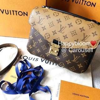 New Louis Vuitton LV Pochette Metis reverse monogram bag receipt full set