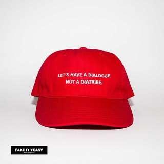 Fake it yeasy 老帽 紅色 棒球帽 潮流 潮牌 出清