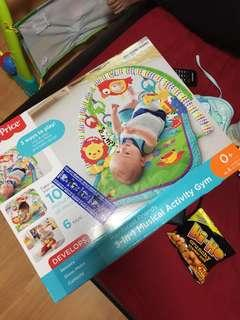 baby 3 in 1 musical activity gym