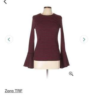 Zara bell long sleeve stripe