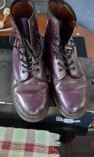 Dr. Martens purple smooth