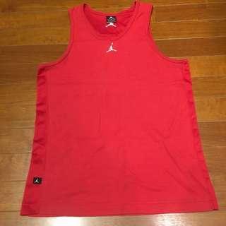 🚚 Nike Air Jordan Buzzer Beater Tank 男運動籃球背心 飛人Logo 紅 百搭基本款 L
