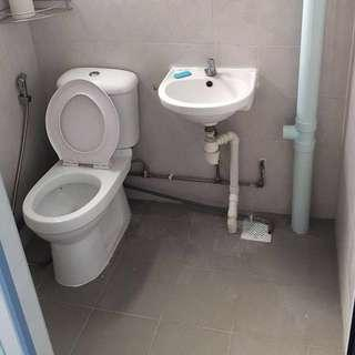 Overlay Bathroom Floor, WC And Basin #EndGameyourExcess