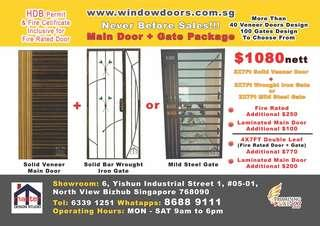 HDB Permit Includes! Direct Factory Fire Rated Door & Gate Promotion #EndGameyourExcess