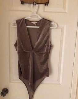 Velvet Purple Bodysuit - Forever 21