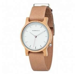 全新 德國 KERBHOLZ木製手錶【原價: $1,750】