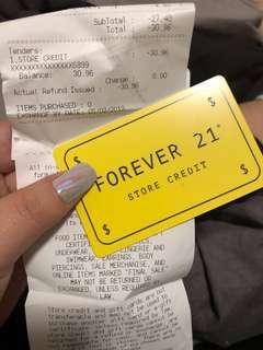 31 $ forever 21 gift card