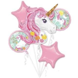 Unicorn Pink Balloon Set of 5