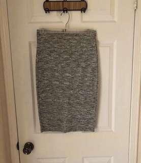 Forever 21 Grey Pencil Skirt