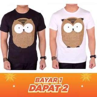 Buy 1 Get 1 Baju Kaos Atasan Lengan Pendek