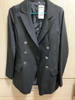 全新黑色靚料修身西裝外套