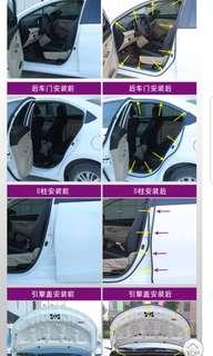 Soundproof and guard car door anti-collision rubber package
