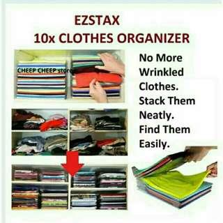 EZSTAX Clothes Organizer 10pcs Set