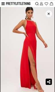 Pretty little thing Red Maxi Dress (size 10)