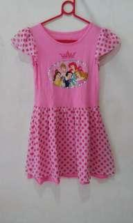 Disney Princess girl dress cotton & chiffon