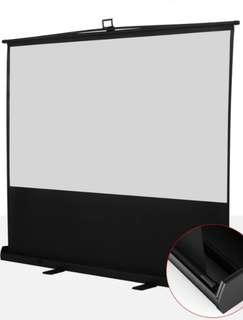 "80"" Portable Pull-up Projector Screen"
