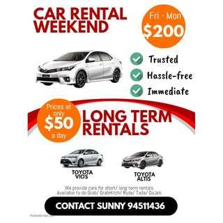 Car Rental Fri - Mon