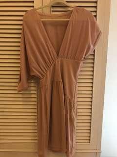 🚚 義大利品牌Imperial 粉膚色洋裝