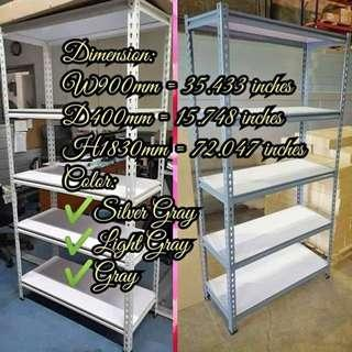 5LAYER BOLTLESS STEEL RACK W/ LAMINATED WOODEN SHELF