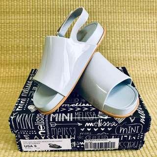 🚚 PL Mini Melissa Beach Slide Blue / Beige  Sandals Shoes US9 (2018)