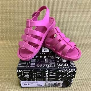 PL Mini Melissa Flox Dark Pink Sandals Shoes US9 (2017)