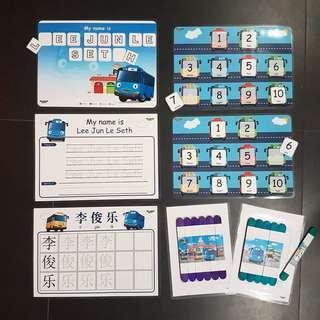 Tayo Bus theme activities