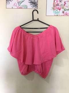 Sabrina pink .. warna aslinya lebih soft ... gak ngejreng .. lucu banget cantik