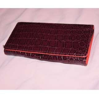 Red Long Wallet