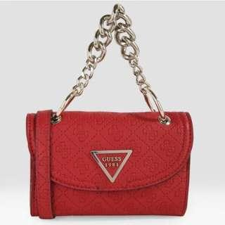 Authentic Guess Handbag In Red