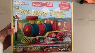 Head to Tail - My Country Train puzzle