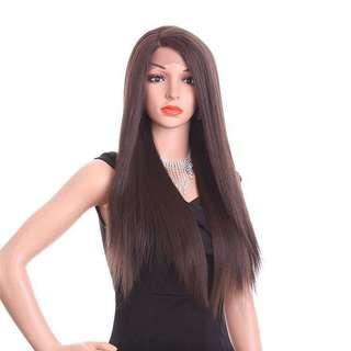 BRAND NEW IN PACKAGE Lace Front Dark Brown Thick Long Wig
