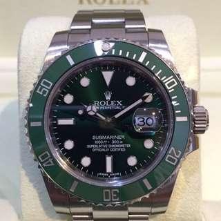 原廠 全新 勞力士 Rolex 116610 潛航者 黑水鬼 綠水鬼 全網最低