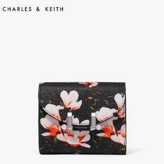 Original Charles & Keith Multicolor Floral Short Wallet