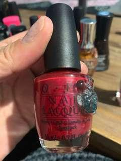 Opi classic crystal red