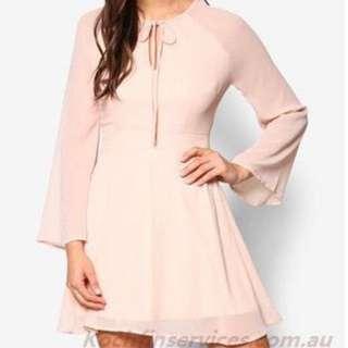 Something Borrowed Flared Sleeve Fit & Flare Dress #Endgameyourexcess