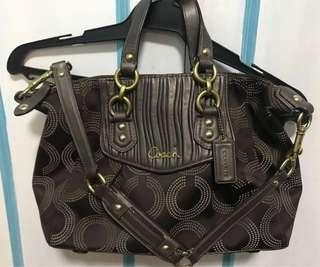 Authentic Coach Ashley Brown Dotted OP Satchel 20015