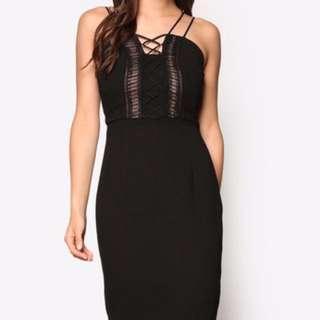Zalora Premium Lace Insert Fitted Dress #Endgameyourexcess
