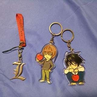 [FREE] Death Note keychains set