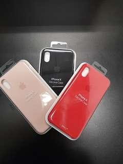 BN Iphone X Silicone Case Black/Pink sand /Red