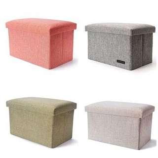 🦋Storage Stool Box Ottoman🦋