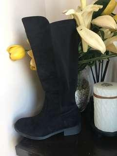 Zalora Black Riding Boots (with box) Sz. 35