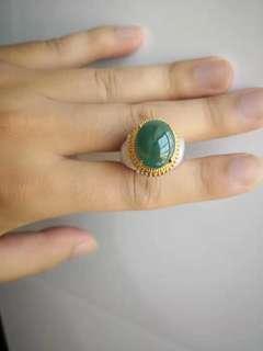 緬甸A玉戒指
