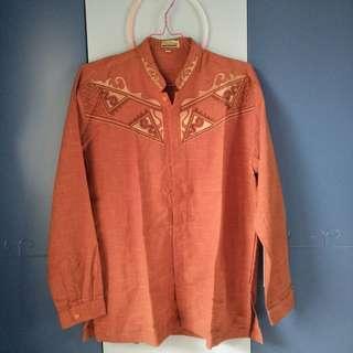 Baju koko (warna orange bata)