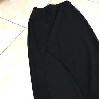 High Waist Midi Skirt with Side Slit