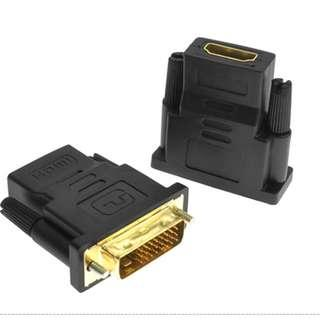 🚚 DVI D to HDMI Female Adapter