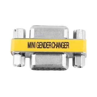 🚚 VGA Female to VGA Female Gender Changer Convertor Adapter