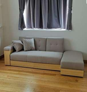 Storage sofa bed
