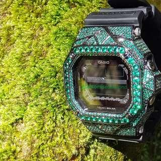 ⭐⭐Geo-x 18k green series gshock king Swarovski diamond gdx56 《Geo-X》5 color available!!🌟🌟🌟 •Deisgn n customise by me •PM more for more for pricing of this kings /check out Instagram #gcustomisediamond#gshockking#