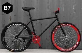 TIMESALES  Black Frame & Black Rim Fixie With Black Tyre Coaster Brakes Brand New Bicycle