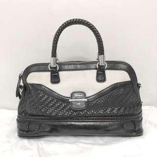 2 way Guess faux Leather knit Bag